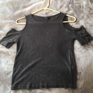 topshop cold shoulder shirt